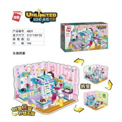 Enlighten 4801 Qman 4801 Xếp hình kiểu Lego IDEAS Unlimited Ideas Unlimited Girl's Home Nhà Gái 194 khối