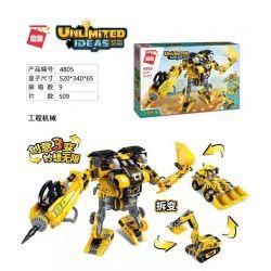 Enlighten 4805 Qman 4805 Xếp hình kiểu Lego IDEAS Unlimited Ideas Unlimited Construction Machinery Máy Xây Dựng 509 khối