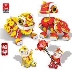 ZHUMO BLOCKS 12032 Xếp hình kiểu Lego SEASONAL Chinese Style Series Lion Thức Dậy Sư Tử 494 khối