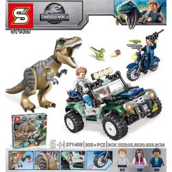 SHENG YUAN SY SY1409 1409 Xếp hình kiểu Lego DINO Dinosaur World Jurassic Series Loạt Phim Kỷ Jura 305 khối