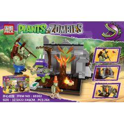 PRCK 69302 Xếp hình kiểu Lego PLANTS VS ZOMBIES Plants Vs. Zombies Happy Manor Hạnh Phúc 264 khối
