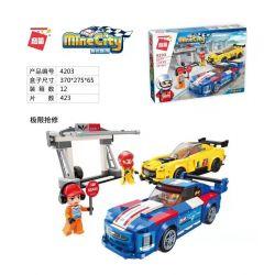 Enlighten 4203 Qman 4203 Xếp hình kiểu Lego MINECITY My City Extreme Repair Sửa Chữa Khắc Nghiệt 423 khối