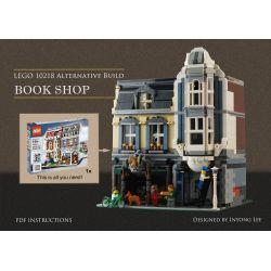 REBRICKABLE MOC-18923 18923 MOC18923 ZHEGAO QL0925 0925 Xếp hình kiểu Lego MODULAR BUILDINGS Book Shop Zhe High Street View Bookstore (10218 Pet Store) Hiệu Sách (trong Bộ 10218 Cửa Hàng Thú Cưng) 196