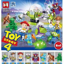 MINGGE MG2013 2013 Xếp hình kiểu Lego TOY STORY Toy Story 4 Toy Mobilization 4 Human 8 Three-eye Alien, Hudi, Cui, Bathlight, Sok, Rabbit, Red Heart, Green Soldier 8 Người Ngoài Hành Tinh Ba Mắt Minif