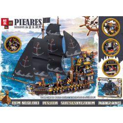ZHEGAO QL1803 1803 Xếp hình kiểu Lego PIRATES OF THE CARIBBEAN Pirate Kingdom Pirate Ship Yongheng Tàu Cướp Biển Yongheng. 1334 khối