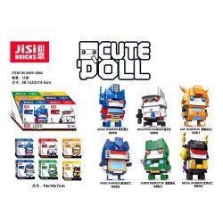 Decool 6859 6860 6861 6862 6863 6864 Jisi 6859 6860 6861 6862 6863 6864 Xếp hình kiểu Lego BRICKHEADZ Deformation Fangtang 6 Cậu Bé đầu Vuông 6 Kiểu gồm 4 hộp nhỏ