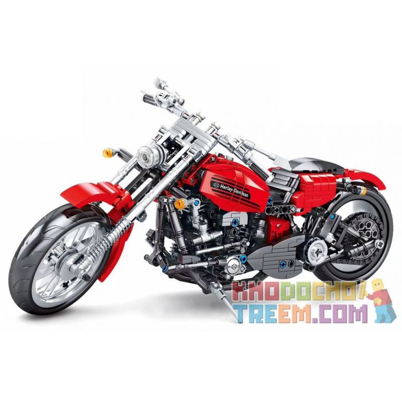 SEMBO 701706 Xếp hình kiểu Lego TECHNIC Harley Davidson Motorcycle Xe máy Harley Davidson 782 khối