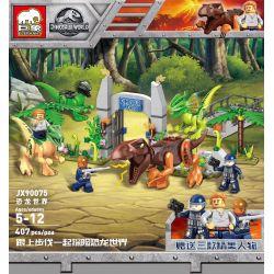 ELEPHANT JX90075 90075 Xếp hình kiểu Lego Jurassic World Dinosaur World Thế Giới Khủng Long 407 khối