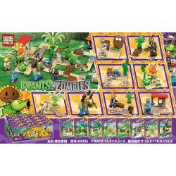 PRCK 69305 Xếp hình kiểu Lego PLANTS VS ZOMBIES Plants Vs. Zombies Green Home 8 8 Ngôi Nhà Xanh