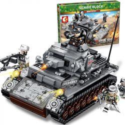 SEMBO 101322 Xếp hình kiểu Lego EMPIRES OF STEEL Steel Empire German IV Tank Xe Tăng IV Của Đức 596 khối
