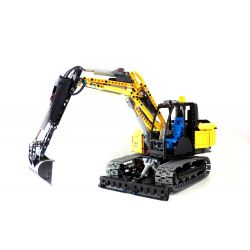 REBRICKABLE MOC-15185 15185 MOC15185 Xếp hình kiểu Lego TECHNIC RC Drive Excavator Máy xúc truyền động RC 1141 khối