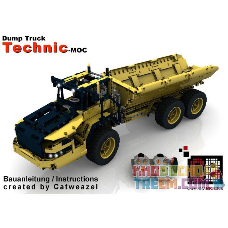REBRICKABLE MOC-8002 8002 MOC8002 Xếp hình kiểu Lego TECHNIC RC Dump Truck Xe ben RC 1805 khối