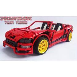 REBRICKABLE MOC-1892 1892 MOC1892 MOC-1893 1893 MOC1893 MOC893 Xếp hình kiểu Lego TECHNIC Phantom Twin Turbo-Red gồm 2 hộp nhỏ 2003 khối