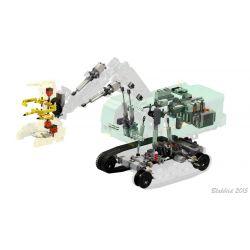 REBRICKABLE MOC-4532 4532 MOC4532 Xếp hình kiểu Lego TECHNIC Feller-Buncher Máy đốn 4508 khối