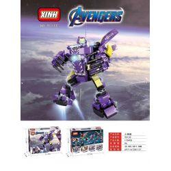 XINH 9010 Xếp hình kiểu Lego SUPER HEROES 4 Marvel Mechas, Falcon Beauty Team, Iron Man, Pepper Rescue Mecha, Spiderman 714 khối