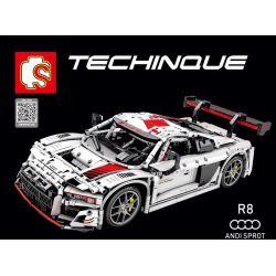 SEMBO 701023 Xếp hình kiểu Lego TECHNIC Audi R8 Audi r8 2768 khối