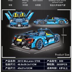 LIN07 009 REBRICKABLE MOC-16029 16029 MOC16029 Xếp hình kiểu Lego Technic TECHNIC McLaren 570S 2818 khối