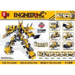 ZHEGAO QL0222 0222 Xếp hình kiểu Lego Dali King Kong Mechanical Engineering Vehicle Six In One Xe kỹ thuật cơ khí Dali King Kong sáu trong một 718 khối