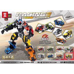 ZHEGAO QL0224 0224 Xếp hình kiểu Lego RACING Racing Super Power Division Racing Machine 2 Combination Biến Dạng đua Mech 6 Kết Hợp 731 khối