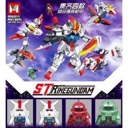 MINGGE MG3015 3015 Xếp hình kiểu Lego GUNDAM Strike Gundam Strike High 4 Combination Of High-procure Angels, Up To Achieve Angel, Red Scorpion-red Comet, Green Zigge-mass Production 4 Kết Hợp Gundam D