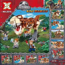 SX 2016 Xếp hình kiểu Lego JURASSIC WORLD Running Overlord 4in1 Khủng Long Bạo Chúa Chạy Trốn 4IN1 lắp được 5 mẫu 811 khối