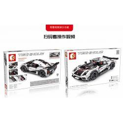 SEMBO 701707 Xếp hình kiểu Lego SPEED CHAMPIONS Koenigsegg Pull Back Car 728 khối