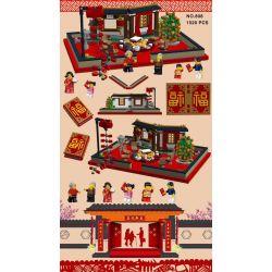 LWCK 808 Xếp hình kiểu Lego SEASONAL Spring Festival Sách Lễ Hội Mùa Xuân 1520 khối