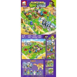 ELEPHANT JX90073 90073 Xếp hình kiểu Lego PLANTS VS ZOMBIES Plants War Plant Big Fight Zombie Tie Biệt đội Xác Sống 666 khối