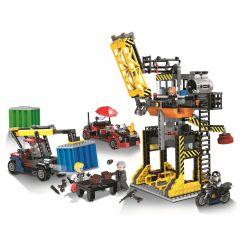 Winner 5104 Xếp hình kiểu Lego SHARP ARROWS ACTION Trading Pier 03 Bến giao dịch 03 679 khối