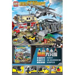 PRCK 62030 62031 Xếp hình kiểu Lego GAME FOR PEACE Jedi Survival Peace Elite Bridge Big Breakout 2 Combination Weiqiao đột Phá Lớn 2 Kết Hợp gồm 2 hộp nhỏ 839 khối
