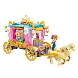 Enlighten 2614 Qman 2614 Xếp hình kiểu Lego PRINECESS LEAH Princess Leah Princess Lay Royal Tour Horse Xe Diễu Hành Hoàng Gia 458 khối