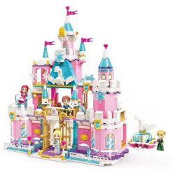 Enlighten 2616 Qman 2616 Xếp hình kiểu Lego PRINECESS LEAH Princess Leah Princess Lay Snow Swan Castle Lâu đài Thiên Nga Tuyết 801 khối