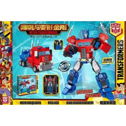 BLANK QL1675 1675 Xếp hình kiểu Lego TRANSFORMERS NEZHA-Transformers Which Is The Transformer Two-phase Optimus Hai Thay đổi Optimus Prime 432 khối