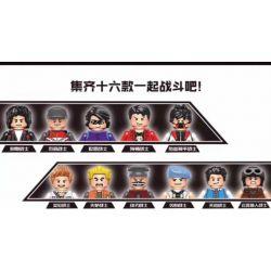 ELEPHANT JX1188 1188 Xếp hình kiểu Lego PEACE ELITE Eating Chicken Elite Hundreds Of People 16 16 Nhân Vật Nhỏ