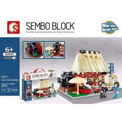 SEMBO 601071 Xếp hình kiểu Lego Japanese Street View Teahouse Quán Trà 348 khối