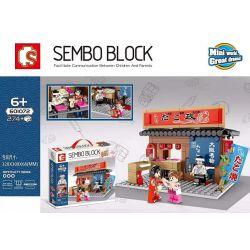 SEMBO 601072 Xếp hình kiểu Lego Japanese Street View Osaka Octopus Takoyaki Osaka 274 khối