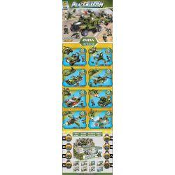 PanlosBrick 636002 Panlos Brick 636002 Xếp hình kiểu Lego PEACEMISSION Peace Mission Military Jeep 8 Combinations 8 Tổ Hợp Xe Jeep Quân Sự