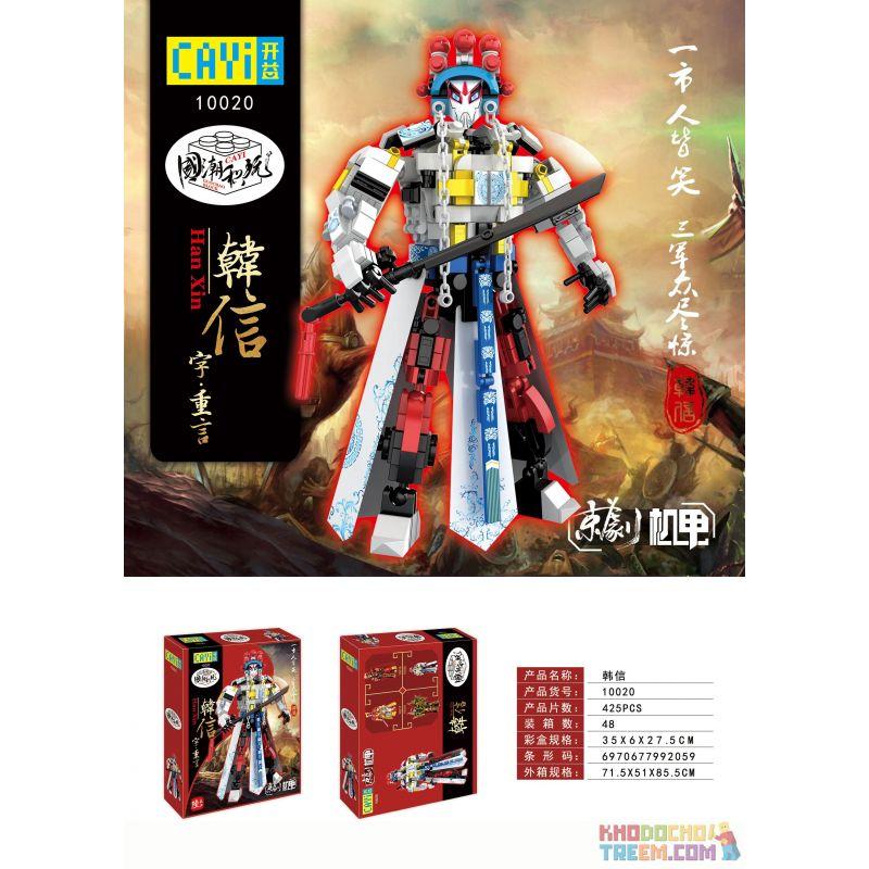 CAYI 10020 Xếp hình kiểu Lego TRANSFORMERS Peking Opera Mecha Han Xin Hàn Tín 425 khối