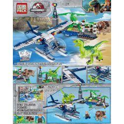 PRCK 69012 Xếp hình kiểu Lego JURASSIC WORLD Dinosaur World Water Aircraft Rescue Plan Kế Hoạch Cứu Hộ Thủy Phi Cơ 359 khối