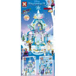 SX 3030 Xếp hình kiểu Lego FROZEN Ice Snow Qiyuan 2 Magic Castle Carnival Lễ Hội Lâu đài Ma Thuật 463 khối