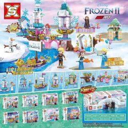 SX 3031 Xếp hình kiểu Lego Frozen Ice And Snow Princess 8 In 1 Công Chúa Tuyết 8 Trong 1