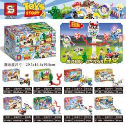 SHENG YUAN SY SY1448 1448 Xếp hình kiểu Lego TOY STORY Toy Story 4 Toy Mobilization 4 Fork 8 Combination Fork Fork 8 Kết Hợp 360 khối