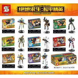 SHENG YUAN SY 7200 Xếp hình kiểu Lego GAME FOR PEACE Jedi Survival Peace Elite Squard 8 Xây Dựng 8 Búp Bê 795 khối