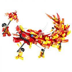 ZHEGAO QL0955 0955 Xếp hình kiểu Lego SEASONAL Heppy New Year New Year Dragon Múa Rồng 441 khối