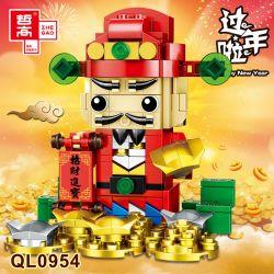 ZHEGAO QL0954 0954 Xếp hình kiểu Lego BRICKHEADZ Heppy New Year Fangtang Goddess Thần Tài 220 khối