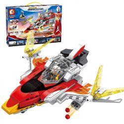 SEMBO 108593 Xếp hình kiểu Lego ULTRAMAN Ultraman Heroes Cosmic Hero Altman Guys Flying Wing Number Guys Bay Số Cánh 462 khối