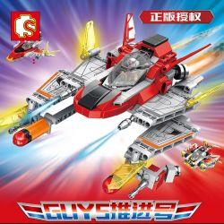 SEMBO 108622 Xếp hình kiểu Lego ULTRAMAN Ultraman Heroes Cosmic Hero Altman Guys Promotion GUYS KHUYẾN MÃI. 382 khối