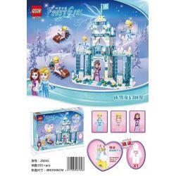 QS08 20055 Xếp hình kiểu Lego FROZEN Frost Girl Ice And Snow Girl Ice And Snow Fantasy Castle Lâu đài Tưởng Tượng Băng Và Tuyết 501 khối