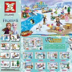 SX 3032 Xếp hình kiểu Lego FROZEN Ice Snow Qiyuan 2 Hundreds Of People 8 8 Nhân Vật Nhỏ