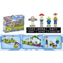 SHENG YUAN SY SY6697 6697 Xếp hình kiểu Lego TOY STORY Toys Story 4 Toy Mobilization 4 Carnival Crazy Roller Coaster Tàu Lượn Siêu Tốc Cho Lễ Hội 324 khối